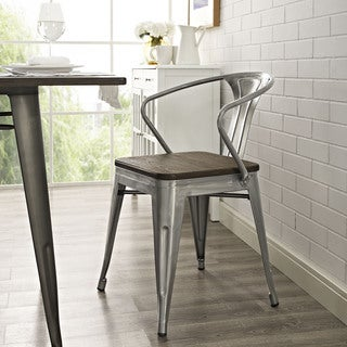 Promenade Metal/ Wood Seat Dining Chair