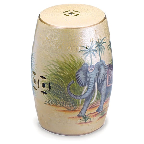 Exotic East Coast Ceramic Stool