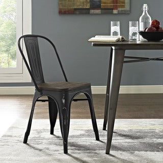 Modway Promenade Metal/ Wood Seat Side Chair