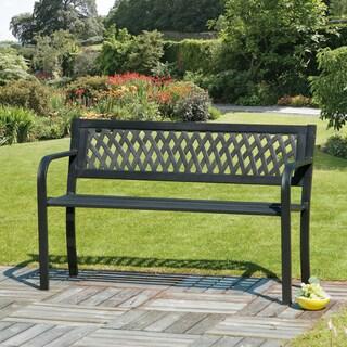 Lattice Back Garden Bench Plastic