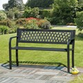 Lattice Back Garden Bench Plastic