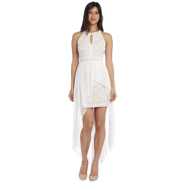 Morgan & Co Women's Glitter Lace Evening Dress
