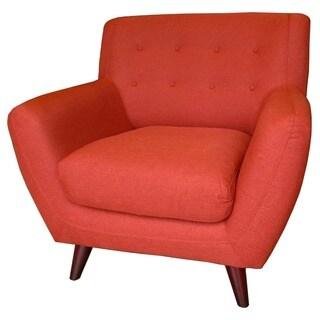 Porter Edie Pumpkin Orange Mid-Century Modern Chair