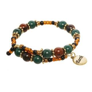 Earth Element Beaded Charm Bracelet