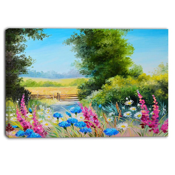 Designart - World of Flowers - Floral Canvas Artwork
