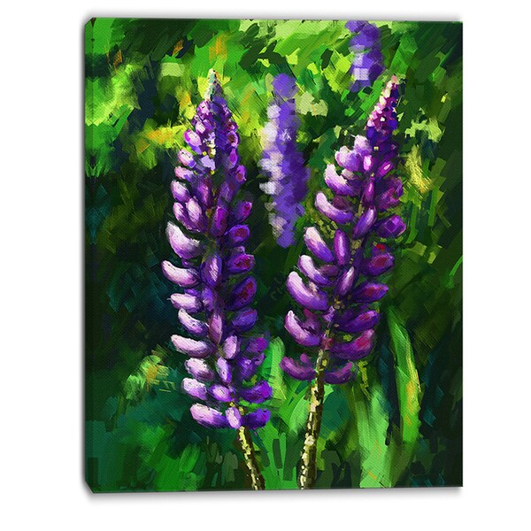 Designart - Lupin Flowers - Floral Canvas Art Print