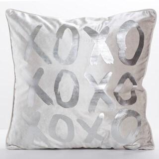 XOXO Silver Throw Pillow