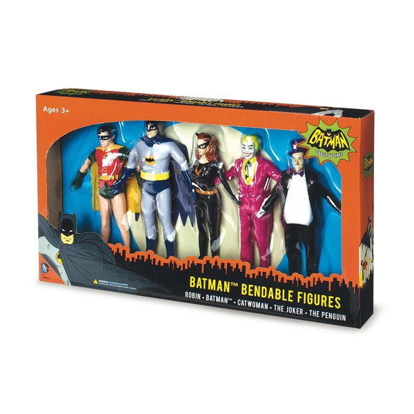 NJ Croce Batman Classic TV Series Bendable Boxed Set 17297978