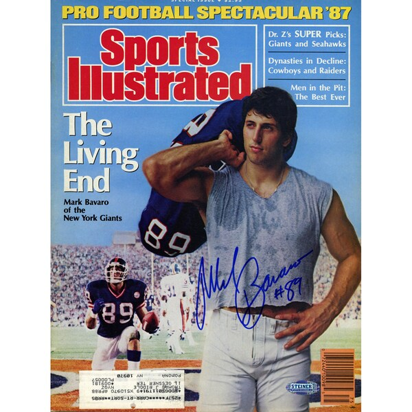 Mark Bavaro Signed 1987 Sports Illustrated Magazine
