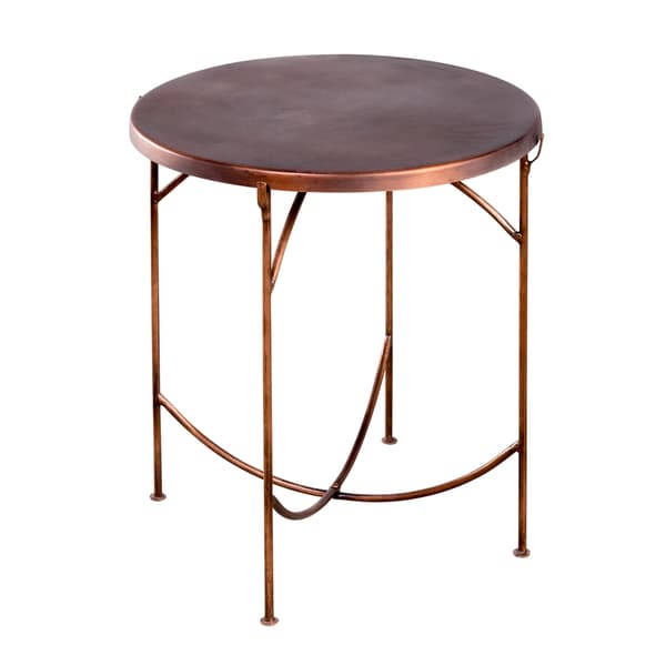 Cap Top Copper Occasional Table (India)
