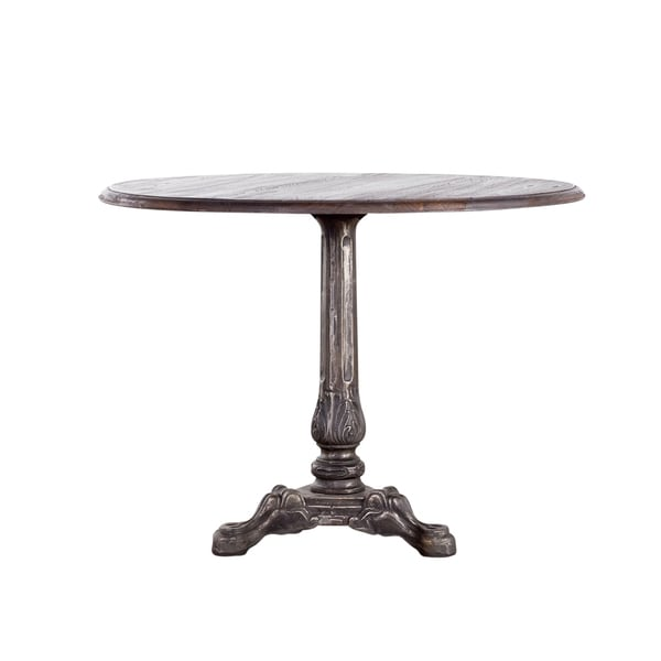 Scroll Leg Smoky Teak Bistro Table (India)