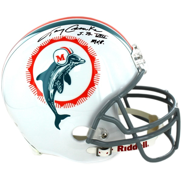 Larry Csonka Miami Dolphins 1972 Model Authentic Helmet w/SB VIII MVP Insc