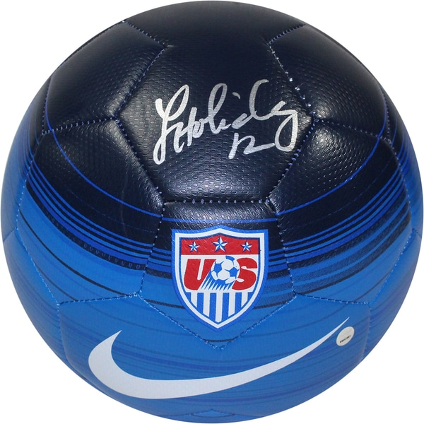 Lauren Holiday Signed Team USA Blue Soccer Ball