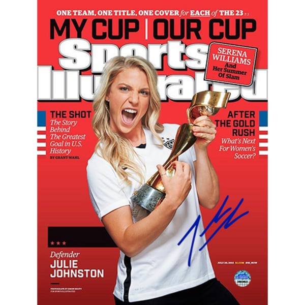 Julie Johnston Signed Sports Illustrated 2015 World Cup Edition 7/20/2015 17298185