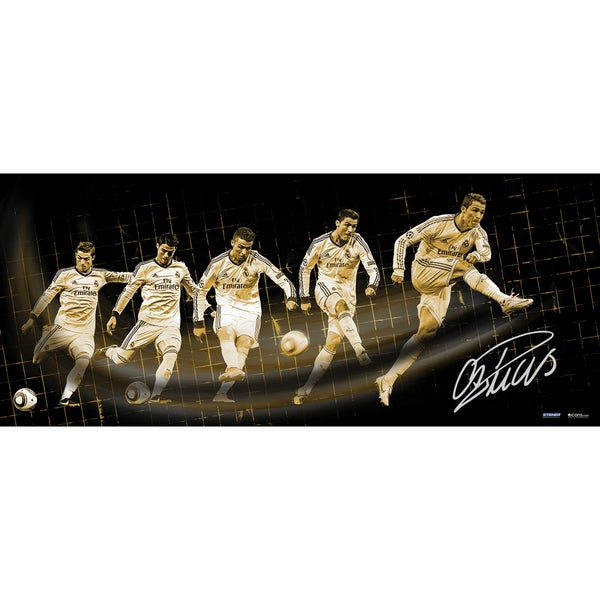 Cristiano Ronaldo Signed Real Madrid Shot Progression 16.5x39 Photo ( Icon Auth)