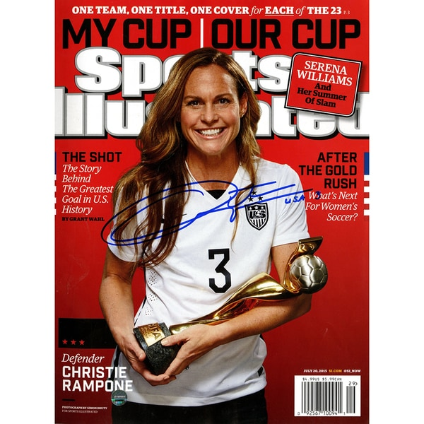 Christie Rampone Signed 2015 Women's World Cup Sports Illustrated Magazine