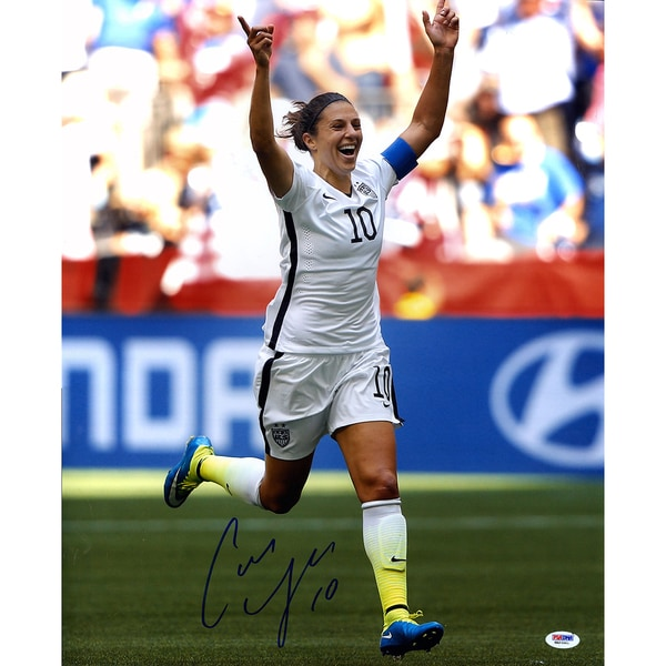 Carli Lloyd Signed 2015 World Cup Goal Celebration 16x20 Photo ( PSA)