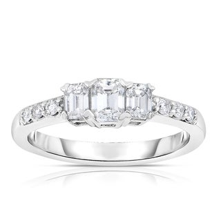Eloquence 14k White Gold 1ct TDW Diamond Engagement Ring (H-I, VS1-VS2)