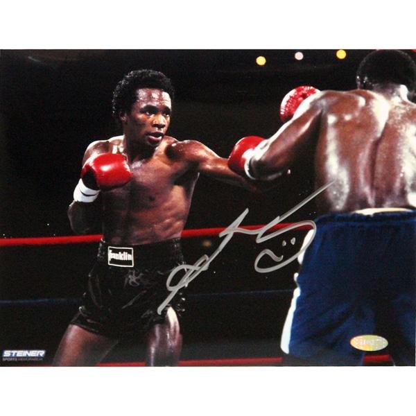 Sugar Ray Leonard Fight in Black Shorts vs Kevin Howard Signed 8x10 Photo 17298209