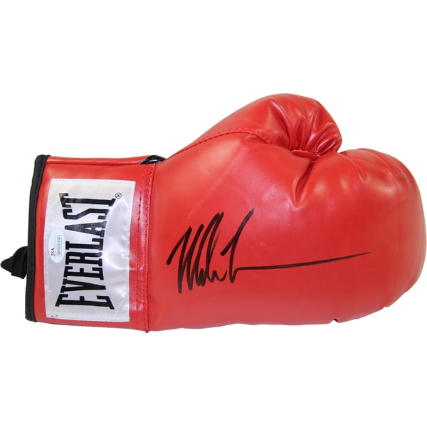 Mike Tyson Signed Red Everlast Boxing Glove (JSA/SSM Auth)