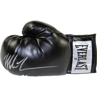 Mike Tyson Signed Black Everlast Boxing Glove