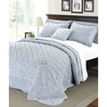 Serenta Faux Fur Quilted Tatami 4-Piece Bedspread Set