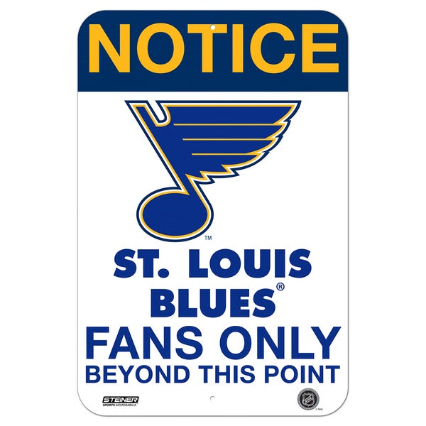 Saint Louis Blues Fans Only 8x12 Aluminum Sign