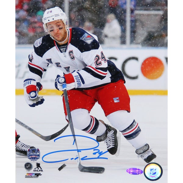 Ryan Callahan New York Rangers 2014 Stadium Series Signed 8x10 Photo