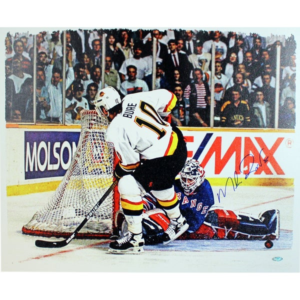 Mike Richter vs. Pavel Bure Horizontal  Signed 20x24 Canvas 17298321