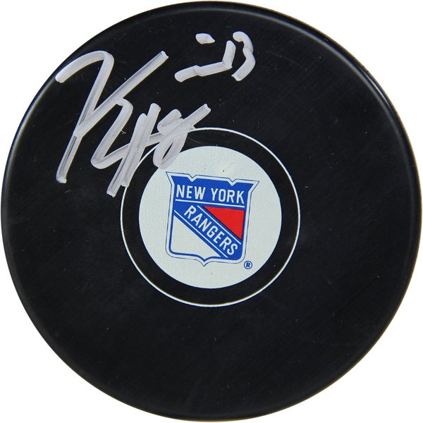 Kevin Hayes Signed New York Rangers Puck