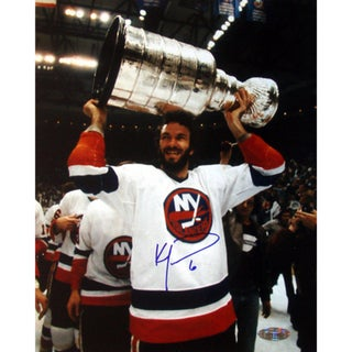 Ken Morrow w/ Stanley Cup Overhead 16x20 Photograph 17298363