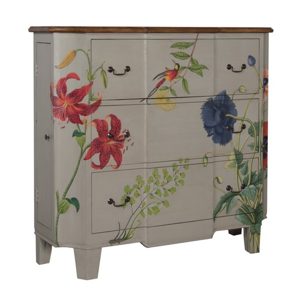 Guildmaster Devon Floral 3-drawer Chest