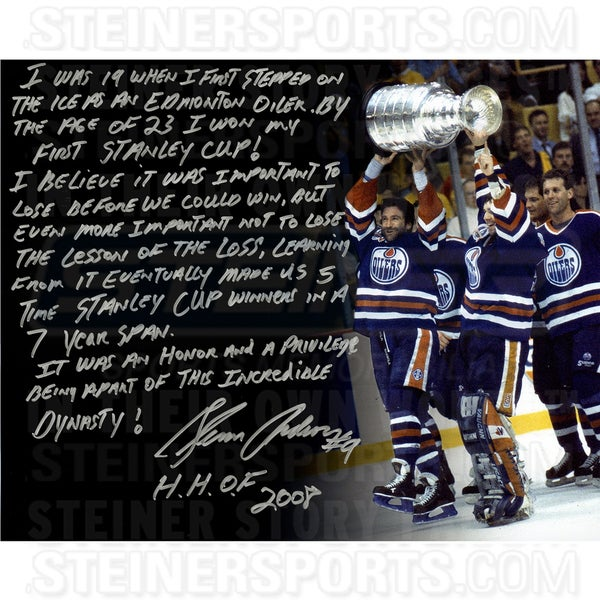 Glenn Anderson Signed 16x20 Story Photo 17298410