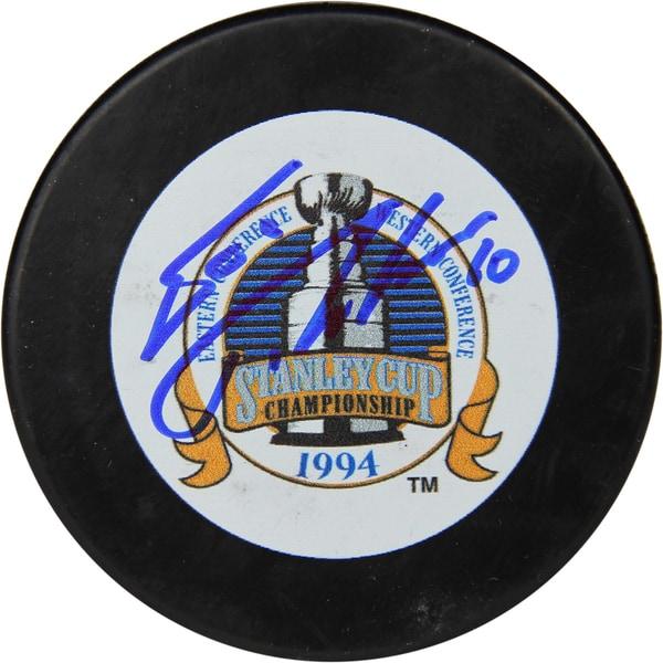 Esa Tikkanen Signed 1994 Stanley Cup Puck 17298413