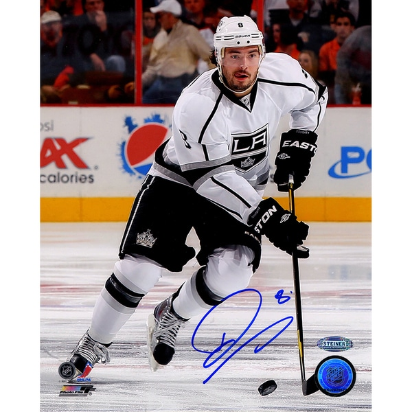 """Drew Doughty Signed Los Angeles Kings 2014 Stanley Cup Scoring Goal 8x10 Photo w/ """" Game 1 Goal""""Insc. 17298718"""