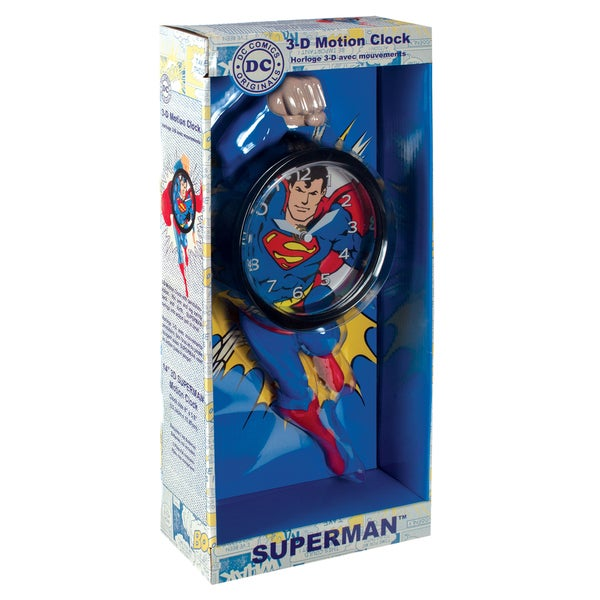 NJ Croce Superman 3D Motion Clock 17298524
