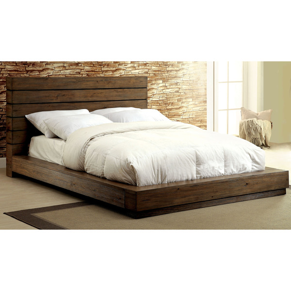 Furniture Of America Emallson Rustic Natural Tone Low Profile Bed 18188927