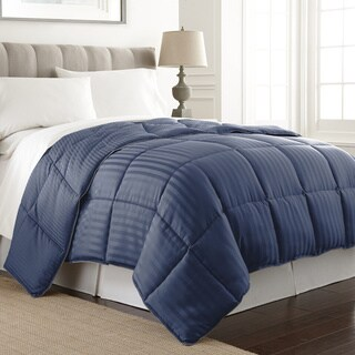 Dobby Stripe Reversible Down Alternative Comforter