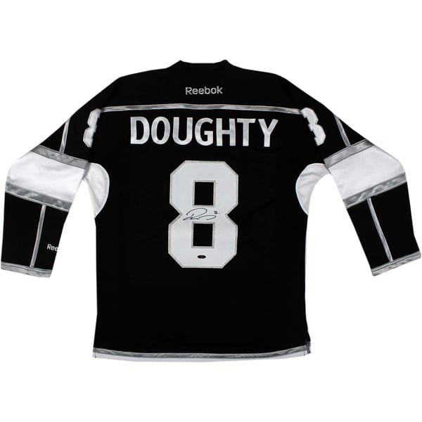 Drew Doughty Signed Los Angeles Kings Black Jersey w/ Stanley Cup Patch 17298706