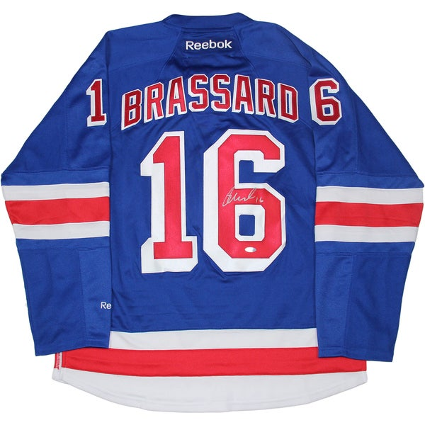 Derick Brassard Signed New York Rangers Blue Authentic Jersey