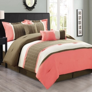 Fashion Street Seventeen 7-piece Comforter Set