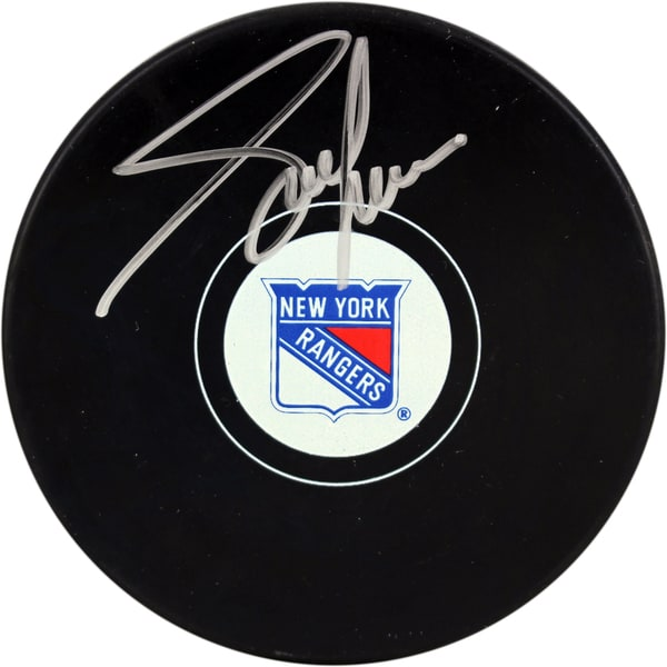 Adam Graves New York Rangers Signed Puck