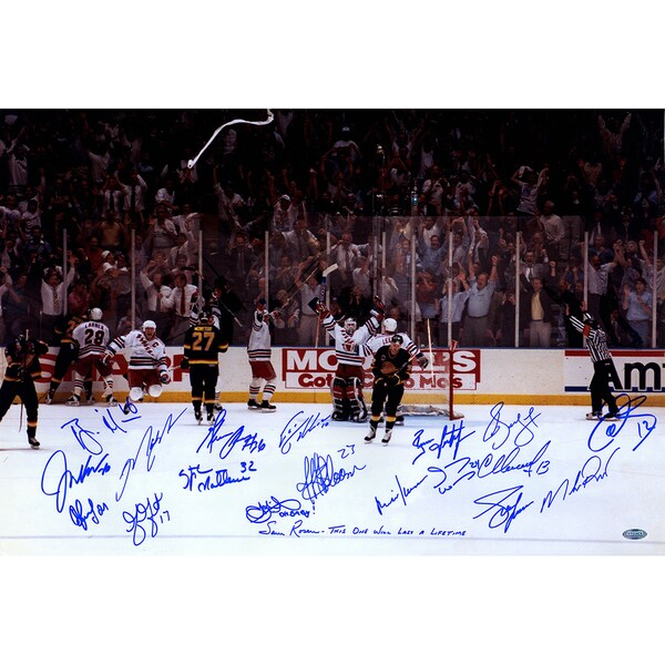 1994 New York Rangers Team Signed Victory On Ice 16x24 Photo (19 Sigs) 17298982