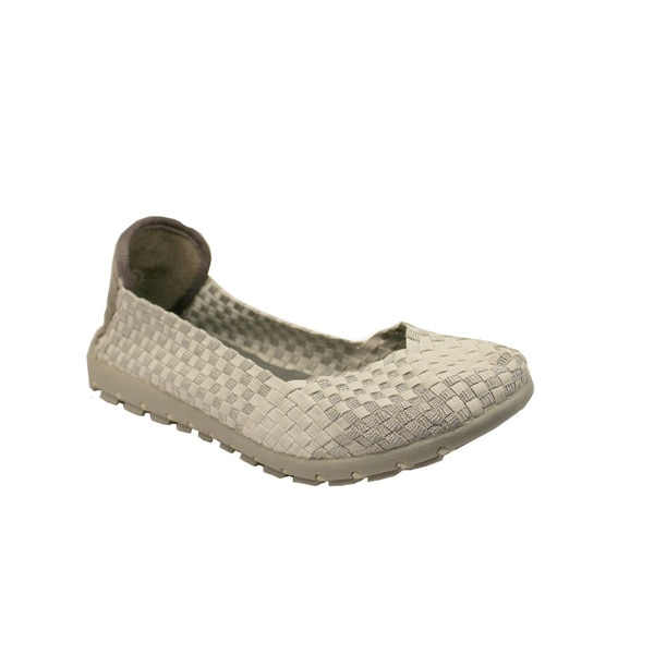 Women's Silver Slip-on Comfort Flats