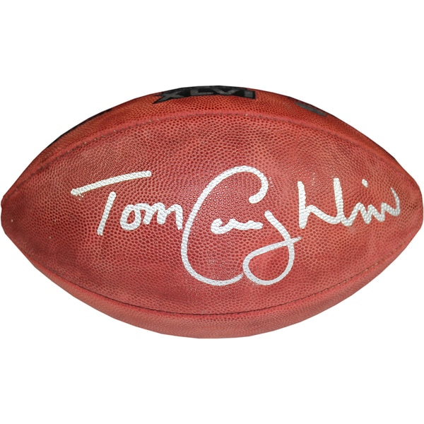 Tom Coughlin Signed Super Bowl 46 Football