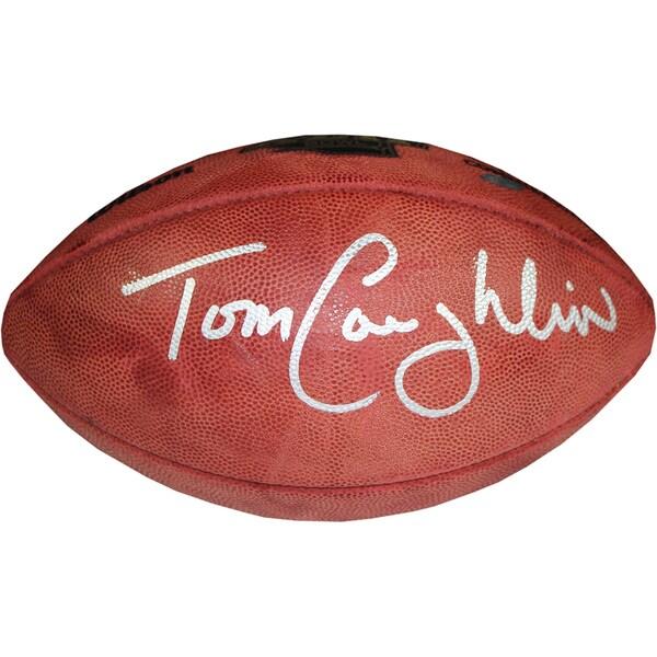Tom Coughlin Signed Super Bowl 42 Football