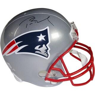 Tom Brady Signed New England Patriots Replica Full Size Helmet