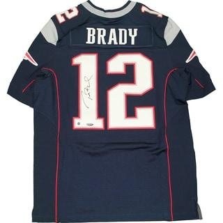 Tom Brady Signed New England Patriots Blue Authentic Jersey