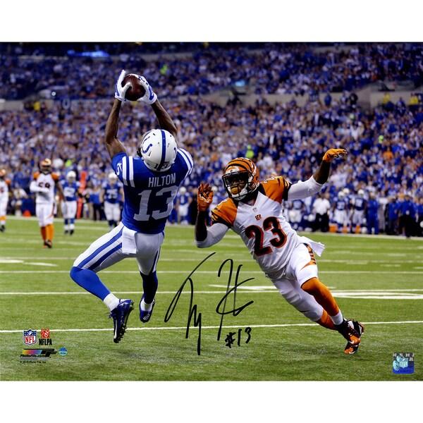 T.Y. Hilton Signed Falling Backwards Catch 16x20 Photo