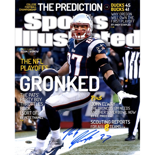 Rob Gronkowski Signed Sports Illustrated Cover-January 12, 2015 16x20 Photo Limited to 49